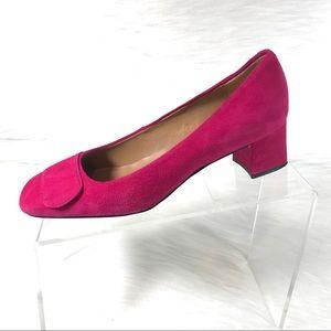 Talbots Pumps Pink Suede Low Heel Size 6.5B